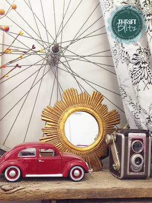 mini gold sunburst mirror - Thrift Blitz Episode Four - SelfBinding Retrospect by Alanna Rusnak