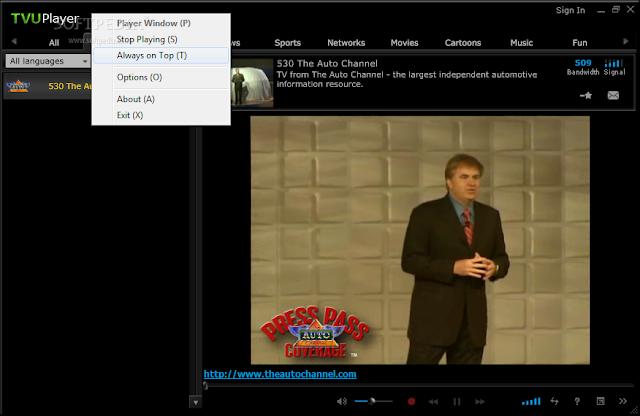 برنامج مشاهدة القنوات التلفزيونية دون توقف TVUPlayer 2.5.3 Build 2025 Beta 1