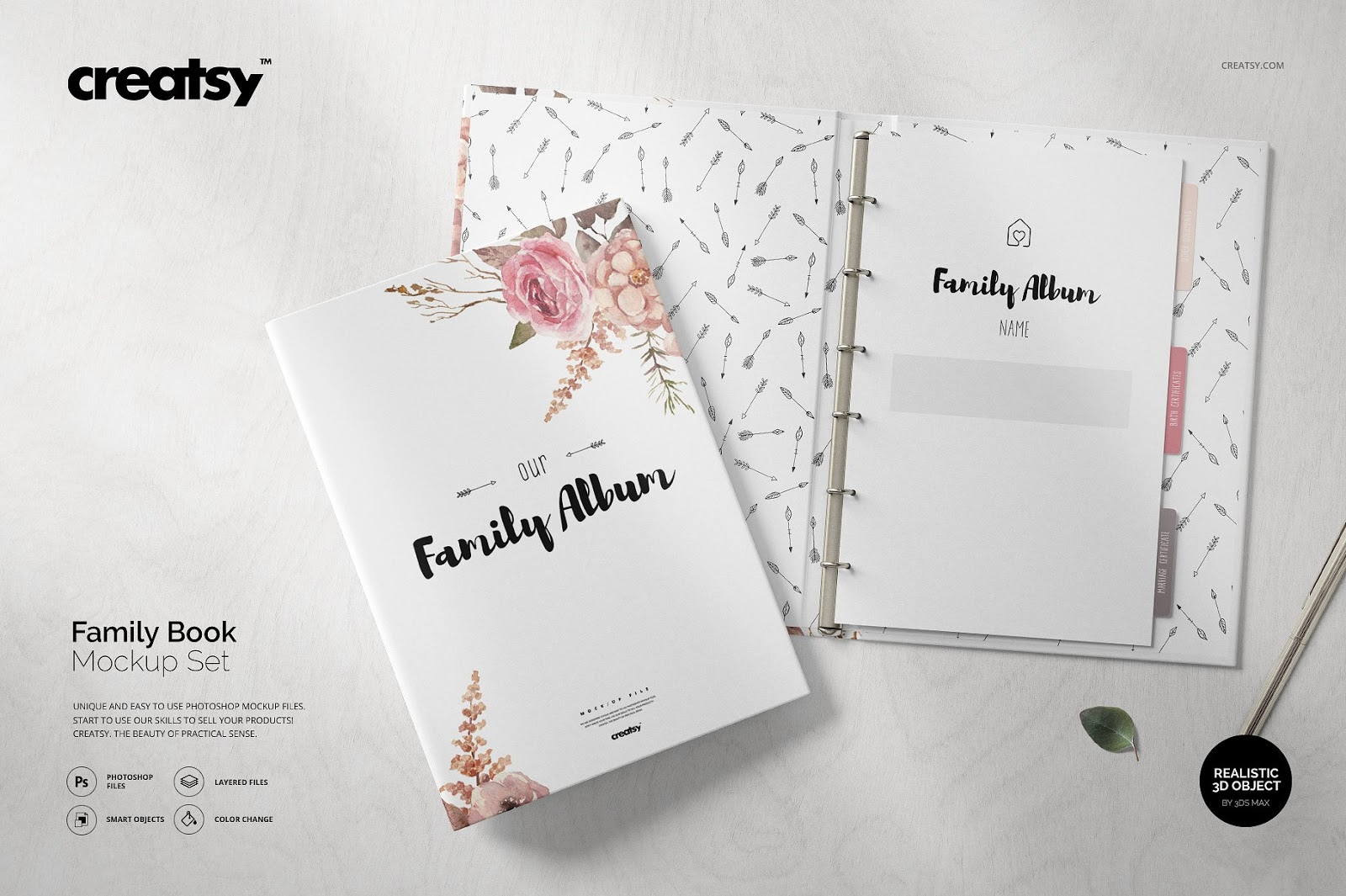 Family Book Mockup Set