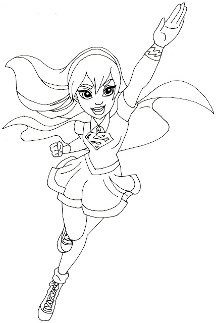 supergirl super hero high coloring page - Coloring Pages Girl Superheroes