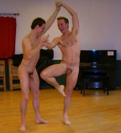 Man dancing in nude