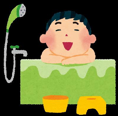お風呂のイラスト「男性」