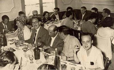Comida de celebración en Castellar de N'Hug 1957