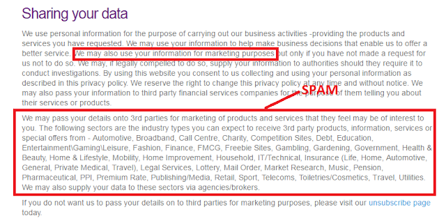 Check carefully the privacy policy to avoid receiving loads of spam