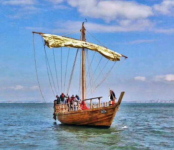 Ξαναζωντάνεψε το ευβοιώτικο εμπορικό πλοίο μετά από 2500 χρόνια και  σάλπαρε από τις Παλαιστινιακές ακτές του σημερινού Ισραήλ