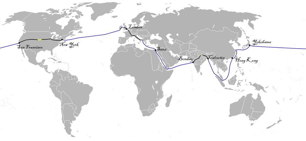 Googleマップ 八十日間世界一周 「八十日間世界一周」ウィキペディ... 「八十日間世界一周