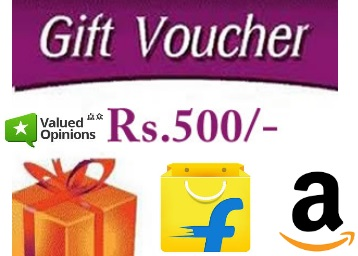 Grab Rs. 500 (Amazon, Flipkart) Vouchers For FREE By Doing Simple Survey