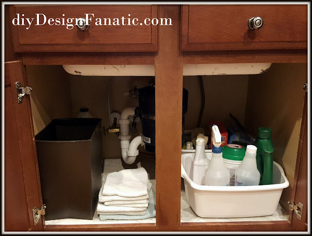 peel and stick tiles, fix your sink cabinets, fix your cabinets, get your homw ready to sell, cottage, cottage style, farmhouse, farmhouse style, diy, diyDesignFanatic.com