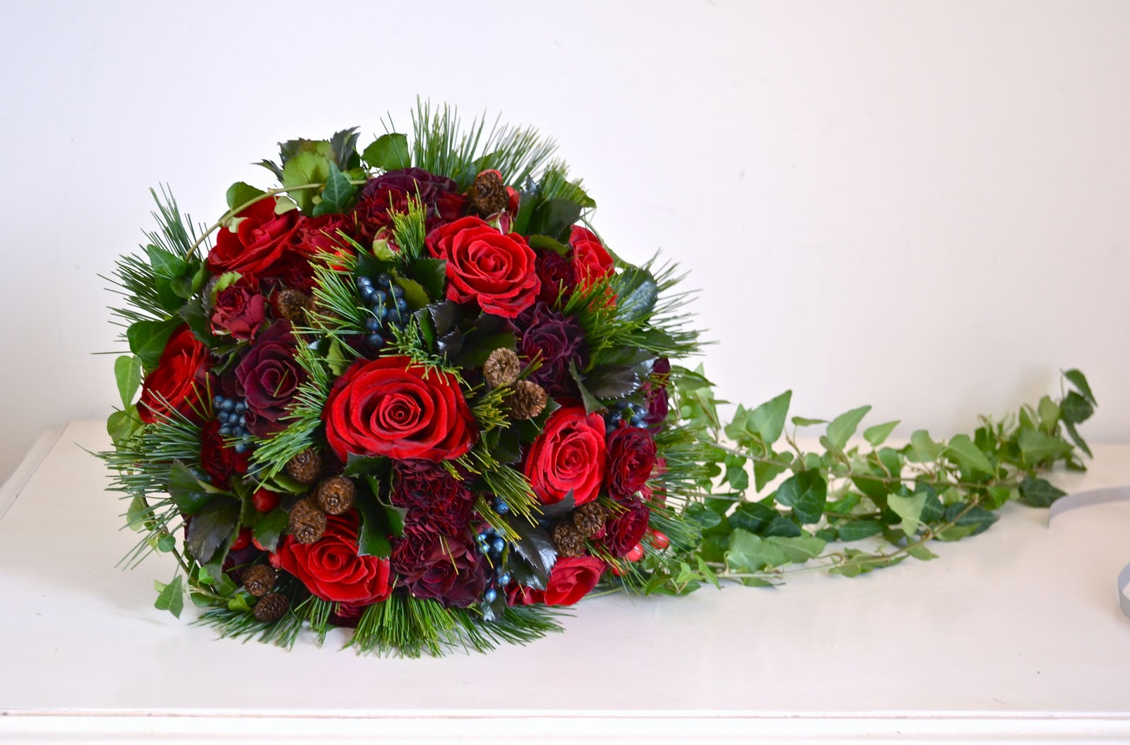 Wedding Flowers Blog: Jemma's Christmas Wedding Flowers ...