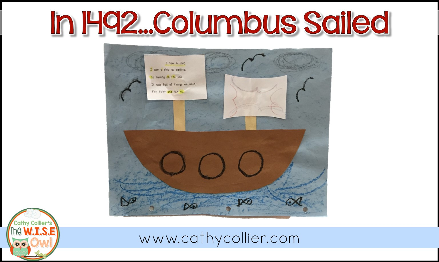 Columbus sailed the ocean blue