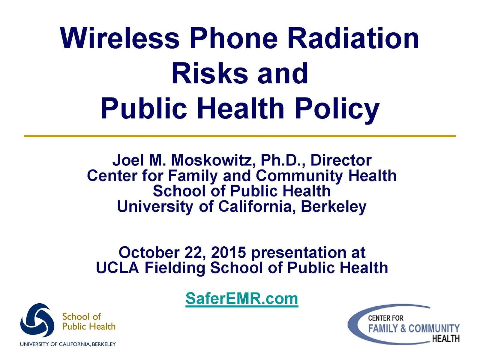 Electromagnetic Radiation Safety: Wireless Phone Radiation