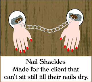Salon humor Waiting for your nails to dry!