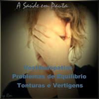 Foto mostrando uma mulher com tontura ou vertigem, sintomas dos distúrbios do sistema vestibular, as vestibulopatias, problemas de equilíbrio.