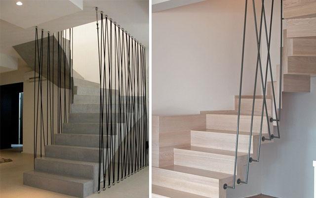 Marzua pasamanos modernos para escaleras de dise o - Pasamanos de cuerda ...