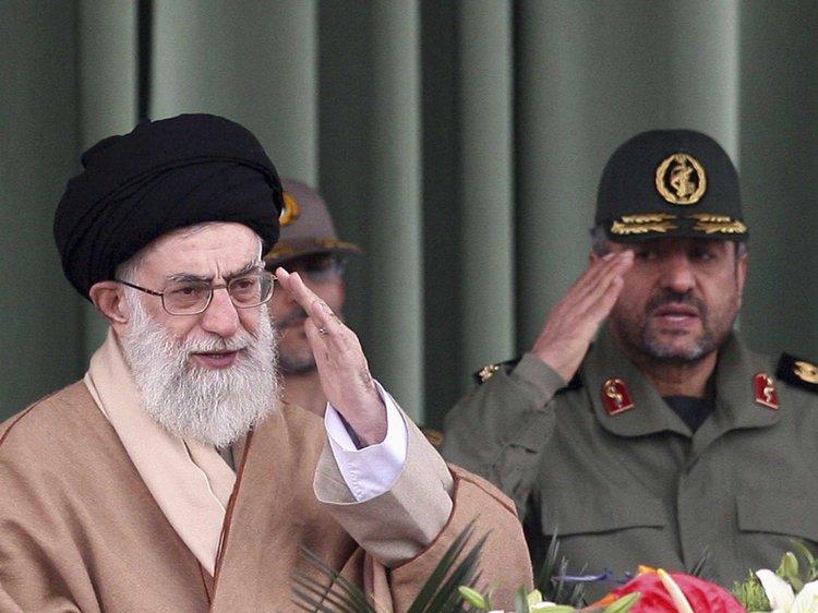 Iran's Supereme Leader Ali Jafari Left During The Visit Of Imran Khan In Iran