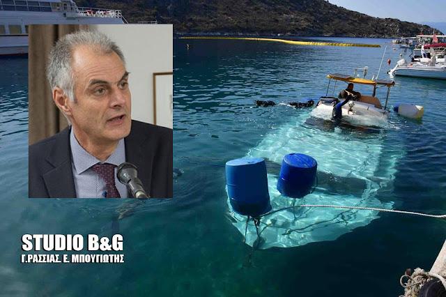 Συγχαρητήρια Γ. Γκιόλα για την επιτυχή δράση του Λιμεναρχείου Ναυπλίου στο περιστατικό της βύθισης σκάφους