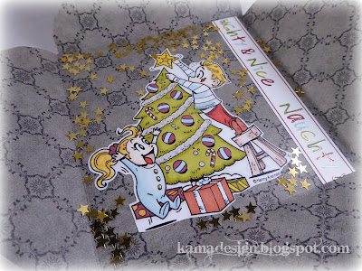Kenny K Christmas tree boxcard