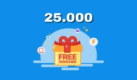 Voucher Pulsa Gratis 25.000 Tanpa Syarat