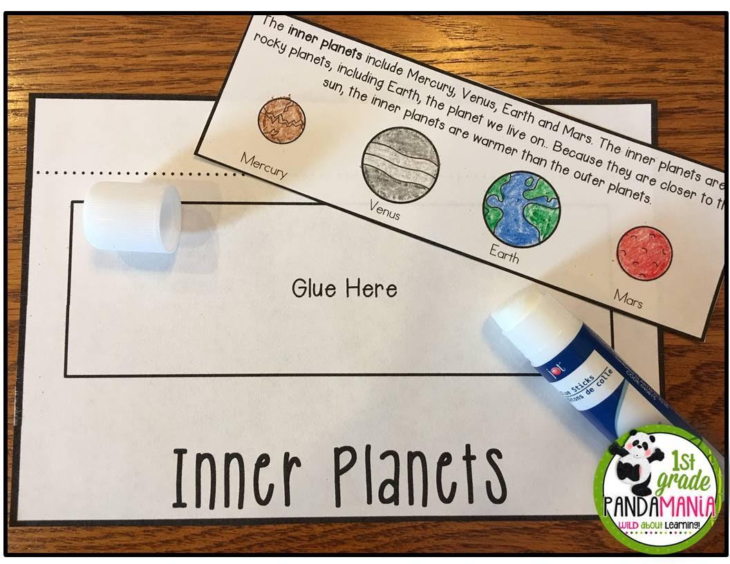 1st Grade Pandamania Solar System Activities