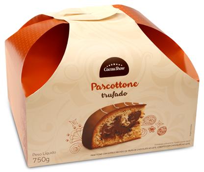 Cacau Show pascottone trufado de chocolate