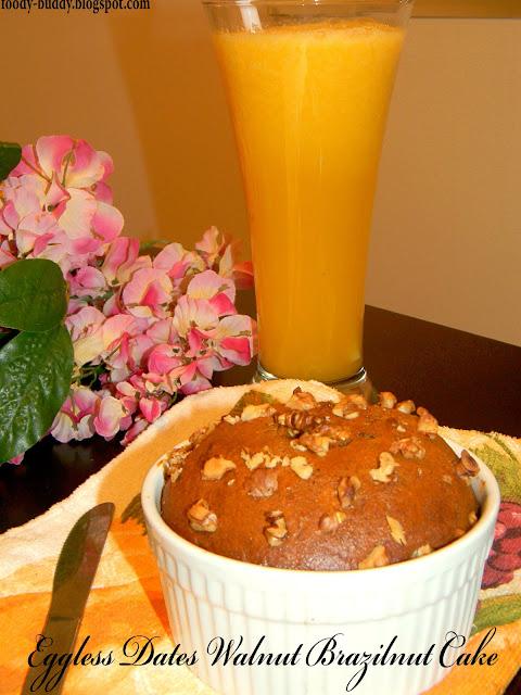 eggless dates walnut cake