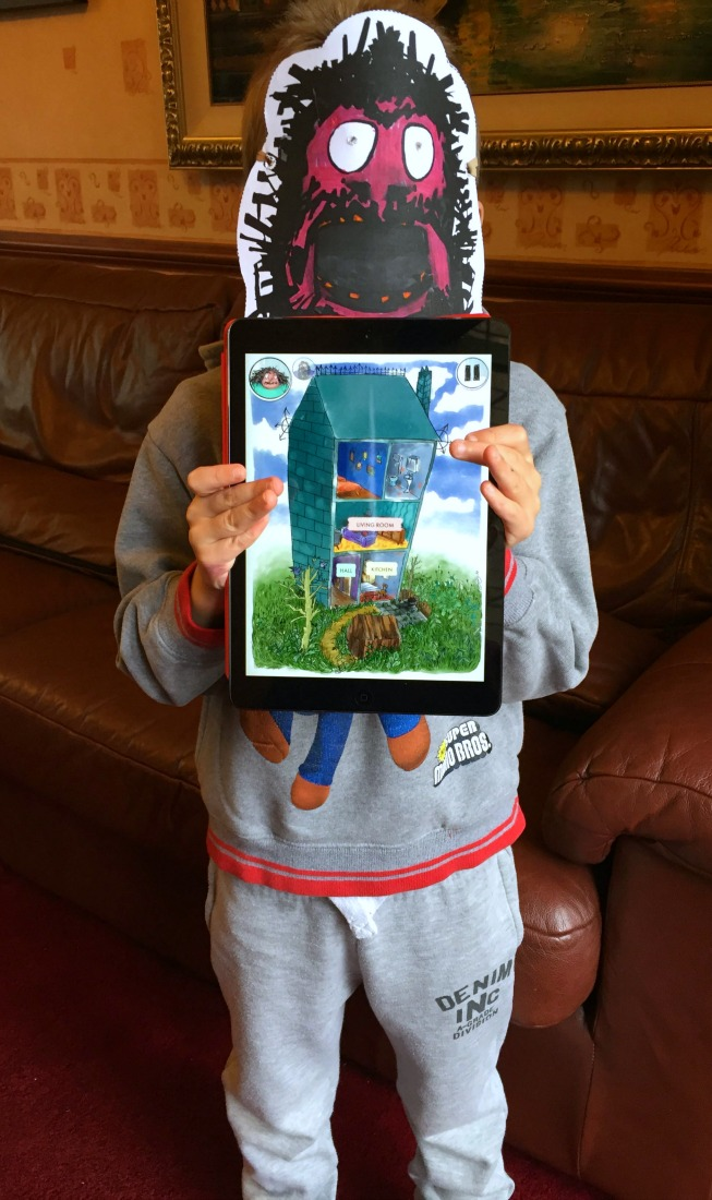 Roald Dahl's House of Twits App Now Available | Morgan's Milieu: LP loves his new mask and House of Twits app.