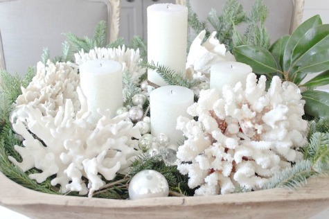 White Coral Christmas Decor