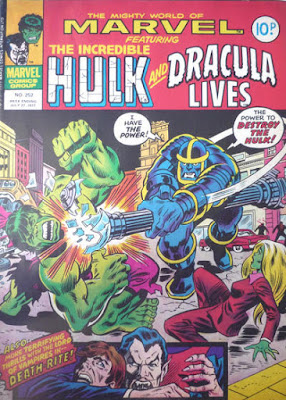 Mighty World of Marvel #252, Hulk and Dracula