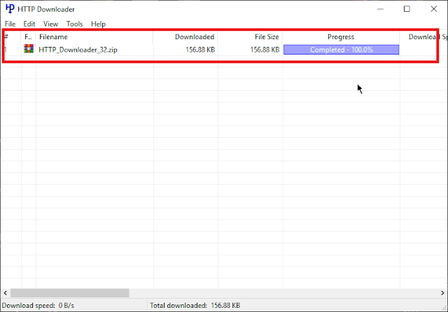 شرح برنامج HTTP Downloader للتحميل
