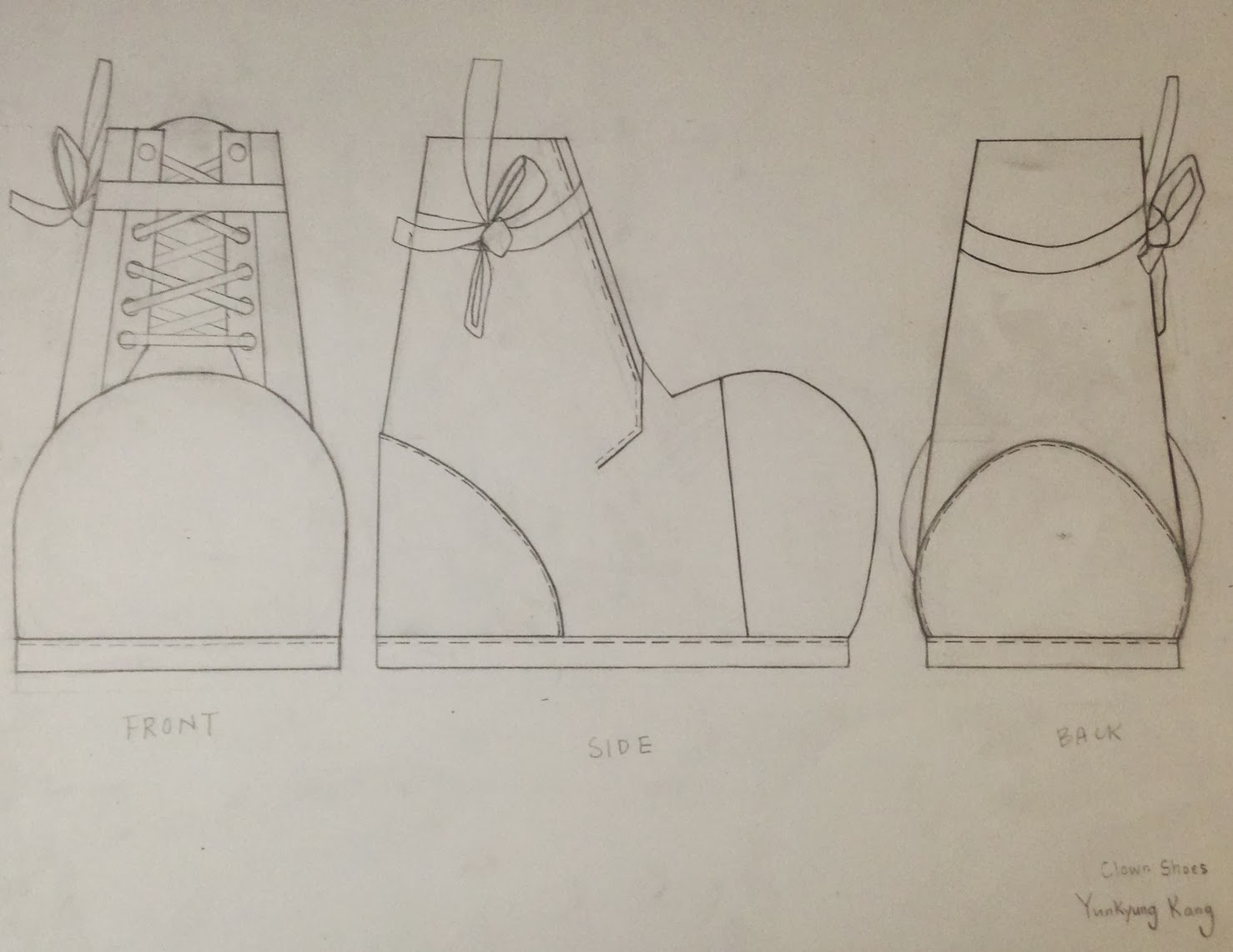 First Year Space Materiality Orthographic Drawing Of