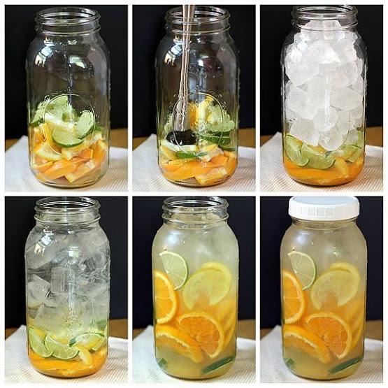 aguas saborizadas para bajar de peso