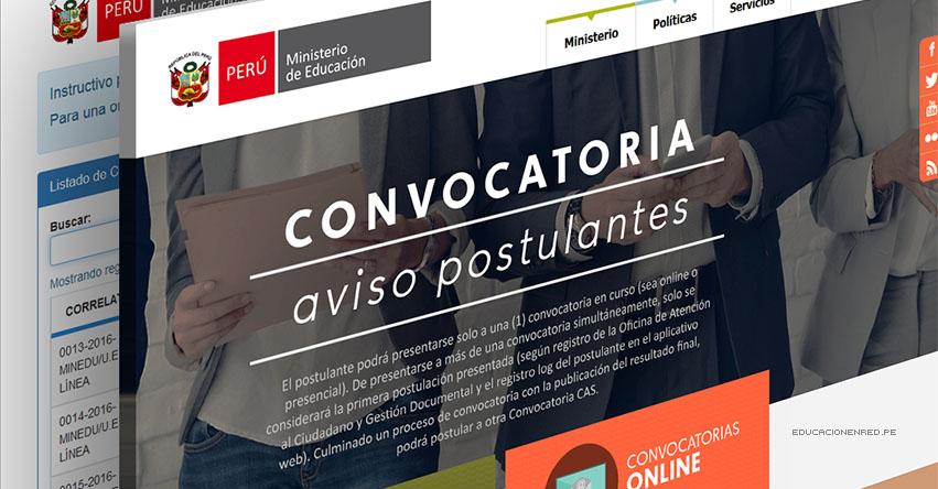 MINEDU: Convocatoria CAS SETIEMBRE 2020 - Cerca de 200 Puestos de Trabajo en el Ministerio de Educación [INSCRIPCIÓN DE POSTULANTES HASTA EL 22 DE SETIEMBRE] www.minedu.gob.pe