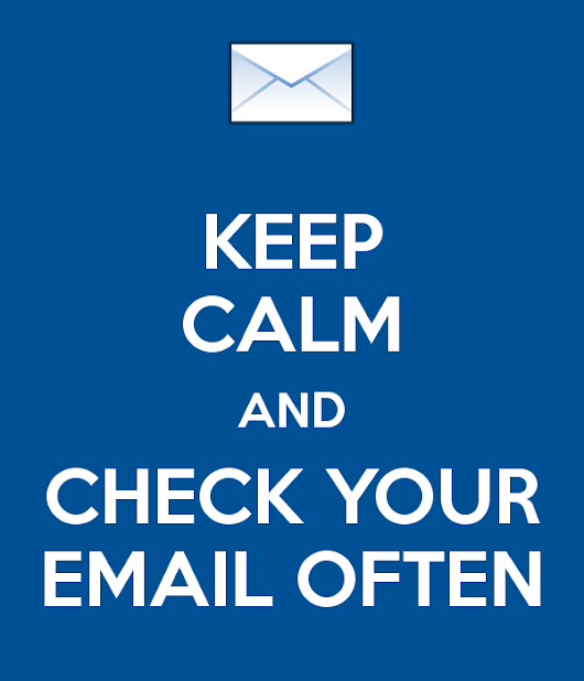Read weekly COE Advising Emails!