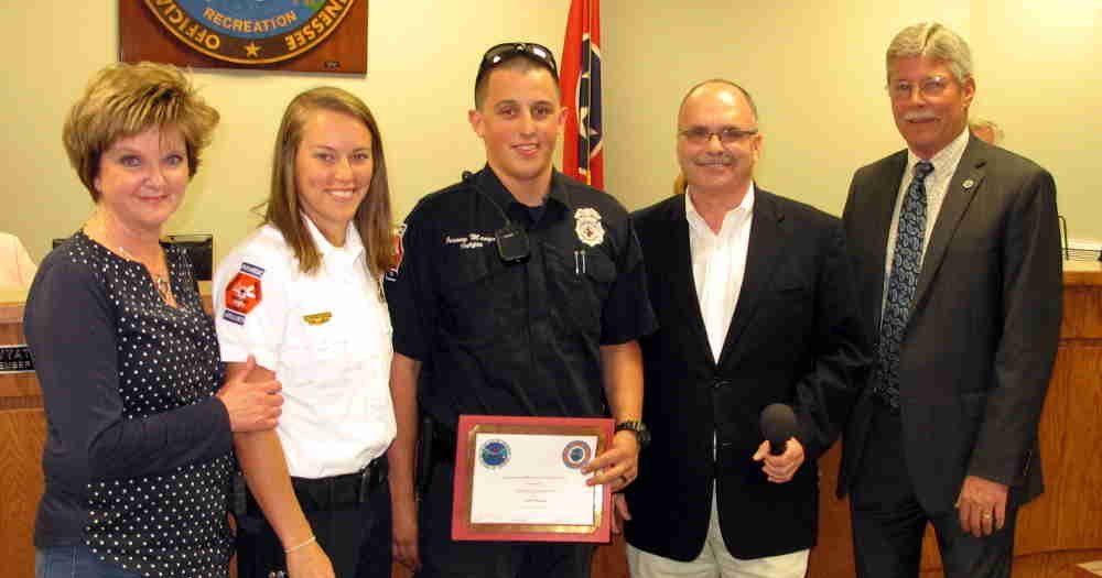 Jim young reporter jeremy mangas recognized as crossville for Park place motors crossville tn