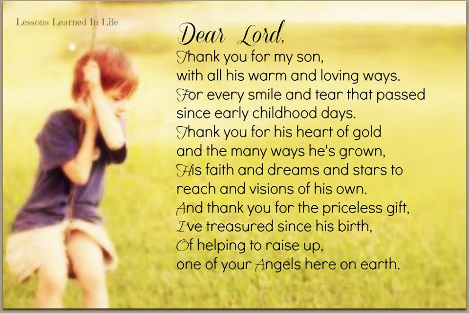 Thank You Lord For My Son Quotes