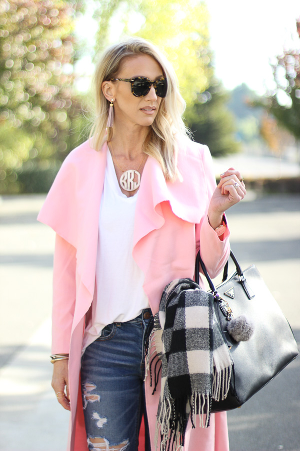 fall pink coats parlor girl