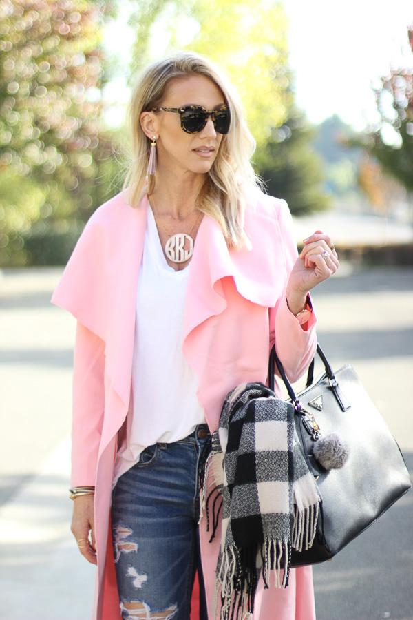fall pink coats parlor girl