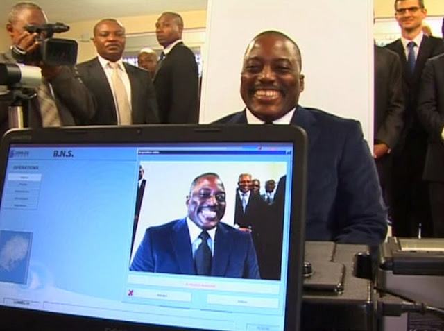 Image Attribute:  President Joseph Kabila of the Democratic Republic of Congo is seen during an event to launch the country's new biometric passport at the foreign ministry in Kinshasa in this still image taken from footage shot in November 2015 and made available to Reuters, March 19, 2017. RTNC/Handout via REUTERS TV