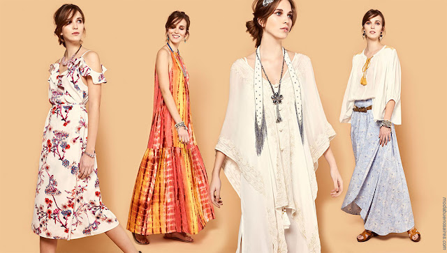 Moda 2018: La primavera verano bohemia y femenina de India Style. Vestidos, túnicas y faldas primavera verano 2018.