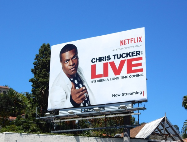 Chris Tucker Live Netflix billboard