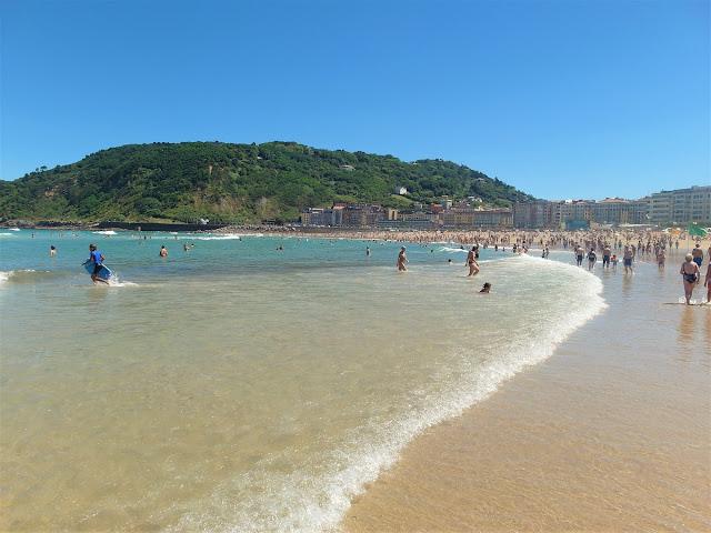 stranden i San Sebastian