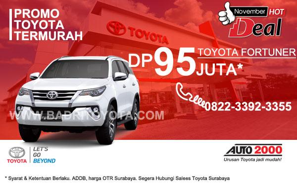 Paket Keren Fortuner DP 95 Juta, Promo Toyota Surabaya