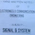 Signals and  Systems SS Hand Written Lecture Notes PDF - Electronics Study Material Free Download