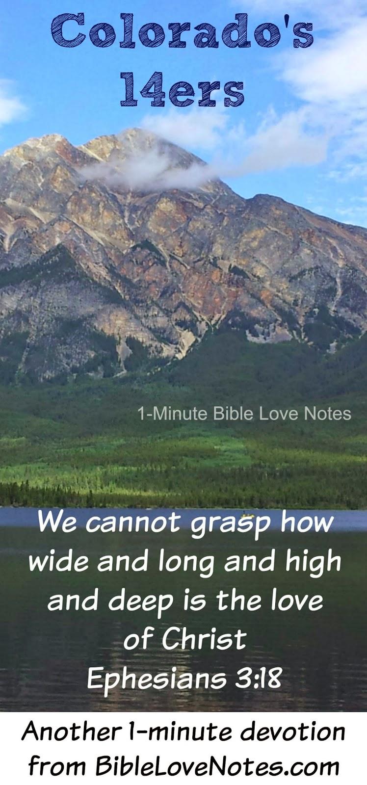 Colorado 14ers, 14ers mountains, climb mountains, Colorado, God's great love, God's love like mountains