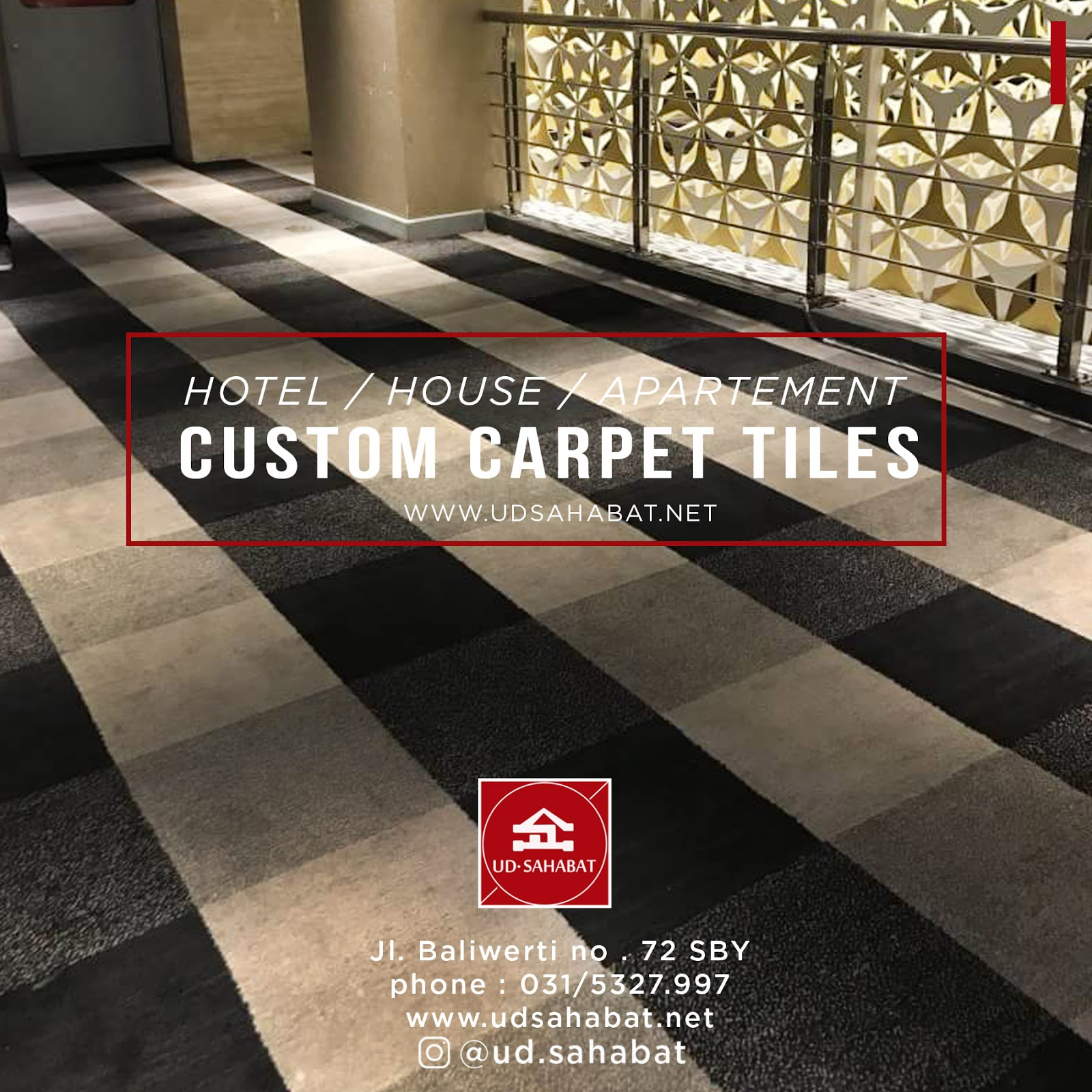 jual custom carpet tiles surabaya udsahabat