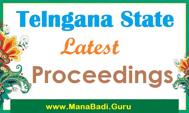 TS SSA, RMSA, DSE, SCERT, DGE, BSE Telangana Latest Proceedings
