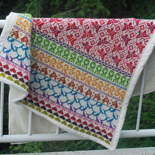Baby Blanket Latvian Garden - Free Pattern