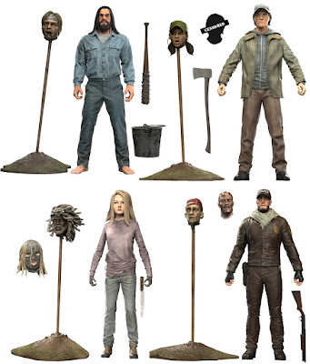 The Walking Dead Comic Book Series 5 Action Figures by McFarlane Toys – Negan, Glenn, Lydia & Shane