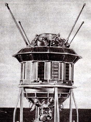 La sonda sovietica Luna 3.
