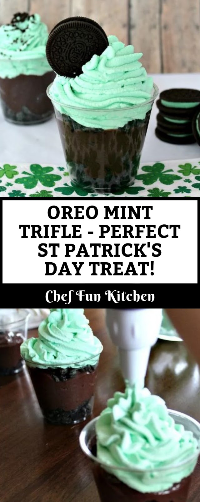 OREO MINT TRIFLE - PERFECT ST PATRICK'S DAY TREAT!